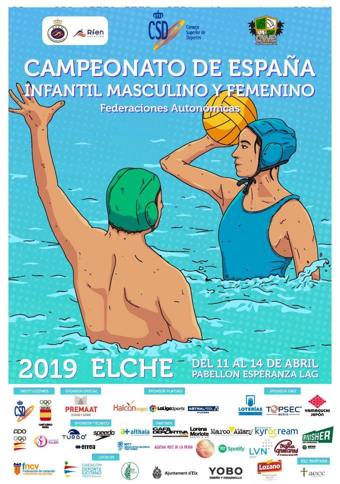 CTO. ESPAÑA INFANTIL MASCULINO Y FEMENINO DE WATERPOLO