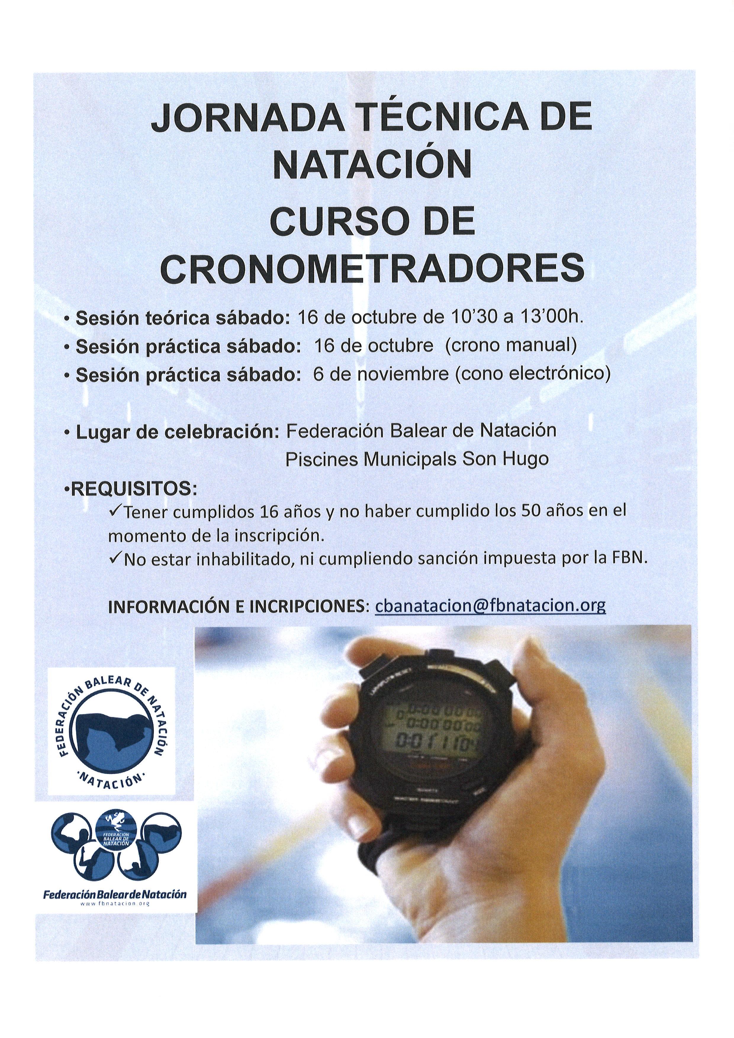 JORNADA TÉCNICA DE FORMACIÓN: CURSO DE CRONOMETRADORES