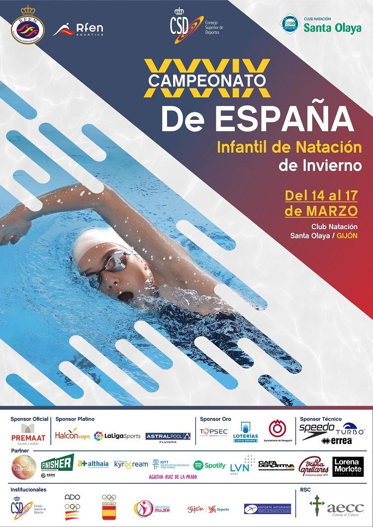 XXXIX CTO. DE ESPAÑA DE NATACIÓN INFANTIL - INVIERNO
