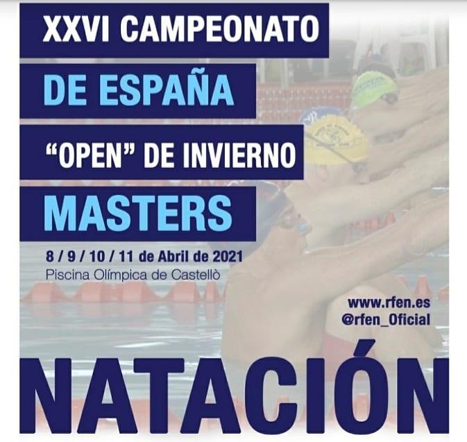 """XXVI CTO. DE ESPAÑA """"OPEN"""" DE INVIERNO NATACIÓN MASTERS"""