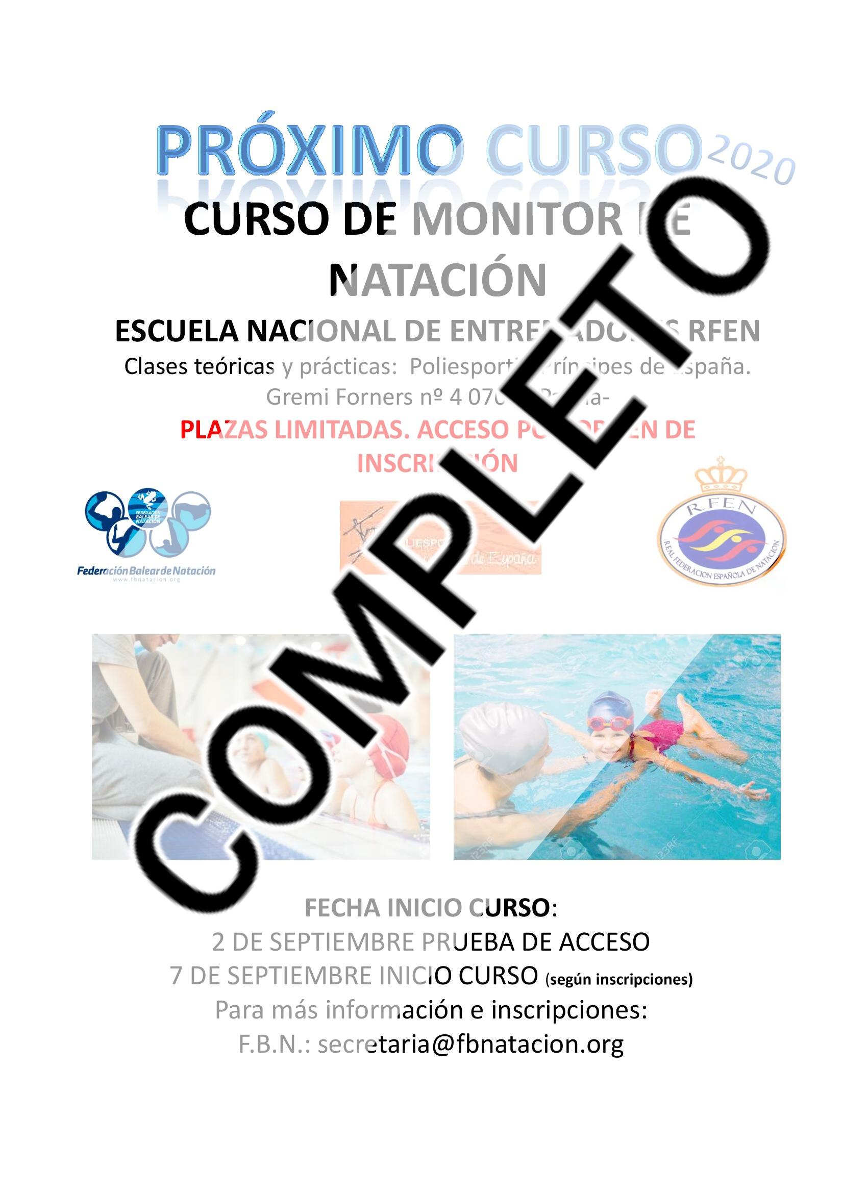 CURSO COMPLETO - CONVOCATORIA CURSO DE MONITOR - PALMA